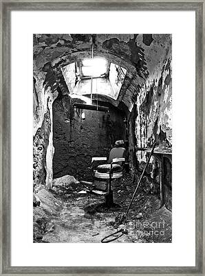 The Barber Chair - Bw Framed Print