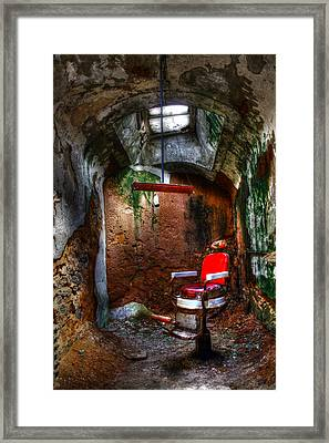 The Barber Chair Framed Print by David Simons
