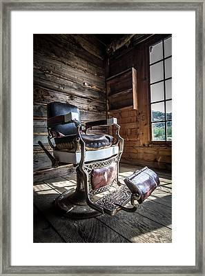 The Barber  Framed Print by Henny Gorin