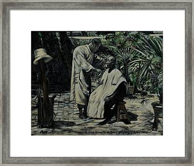 The Barber Of Peking Framed Print
