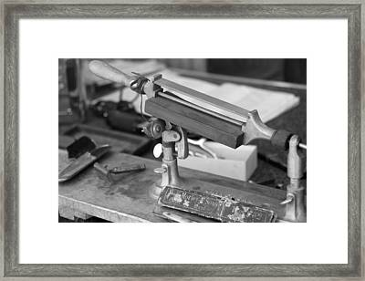 The Barber Shop 12 Bw Framed Print by Angelina Vick