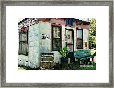 The Barber Shop From A Different Era Framed Print by Paul Ward