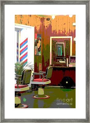 The Barber Shop Framed Print by Sophie Vigneault