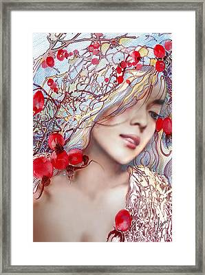 Framed Print featuring the painting The Barberry by Anna Ewa Miarczynska