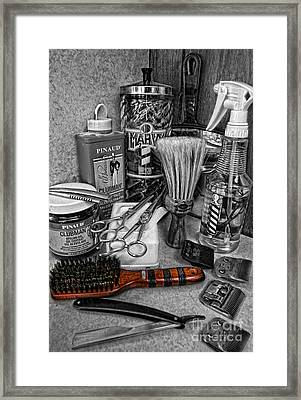 The Barber's Brush Framed Print by Lee Dos Santos