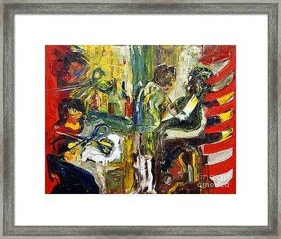 The Barbers Shop - 1 Framed Print