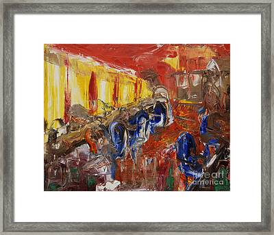 The Barber's Shop - 2 Framed Print