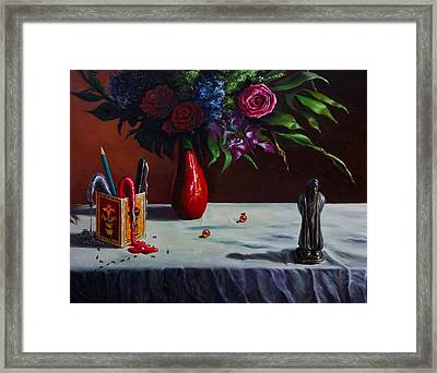 The Bard And The Bouquet Framed Print