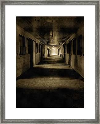 The Barn Aisle Framed Print