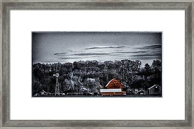 The Barn And The Windmill Framed Print