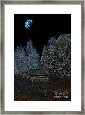 The Barn At Haumerklien  Framed Print by The Stone Age