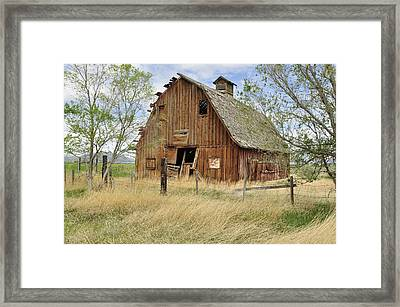 Framed Print featuring the photograph the Barn  by Fran Riley