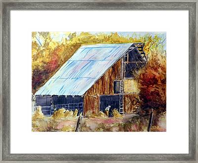 The Barn Mouser Framed Print