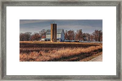 The Barn On The Hill Framed Print by Karen McKenzie McAdoo