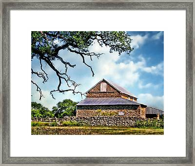 The Barn With Tin Roof Framed Print