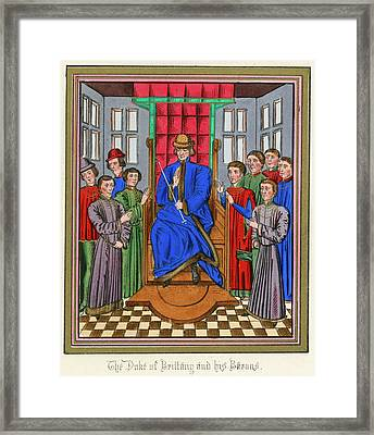 The Barons Of Bretagne Meet To Framed Print by Mary Evans Picture Library
