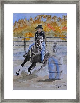 The Barrel Race Framed Print by Warren Thompson