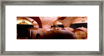 The Barrel Room Framed Print