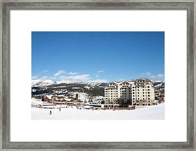 The Base Area At Big Sky Resort Framed Print