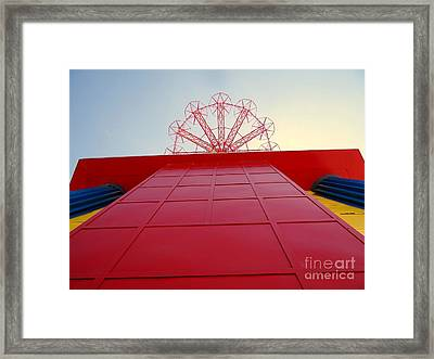 The Base Of The Parachute Jump Framed Print by Ed Weidman