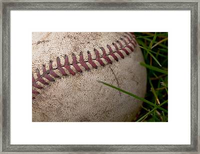 The Baseball Framed Print by David Patterson