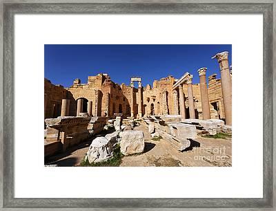 The Basilica Of Severus At Leptis Magna In Libya Framed Print