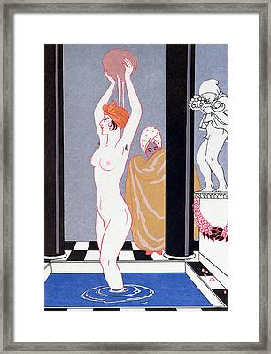 The Basin Framed Print by Georges Barbier
