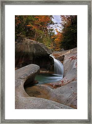 The Basin In The New Hampshire White Mountain National Forest Framed Print