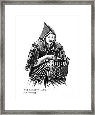 The Basket Maker Framed Print