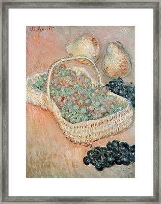 The Basket Of Grapes, 1884 Framed Print by Claude Monet