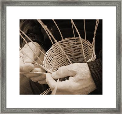 The Basket Weaver Framed Print
