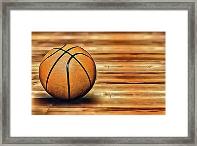 The Basketball Framed Print by Florian Rodarte