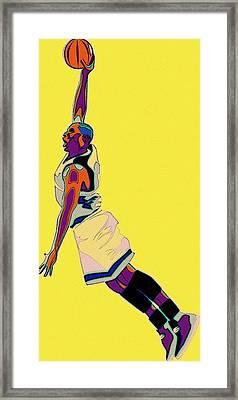 The Basketball Player Framed Print by Florian Rodarte
