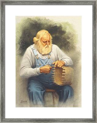 The Basketmaker In Pastel Framed Print by Paul Krapf