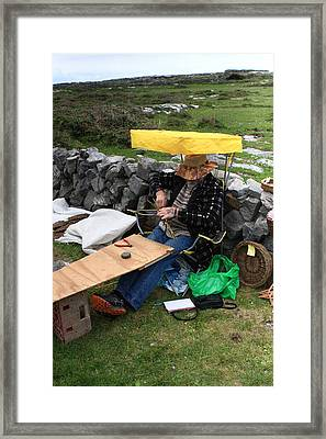 The Basketmaker Of The Aran Islands Framed Print by Aidan Moran