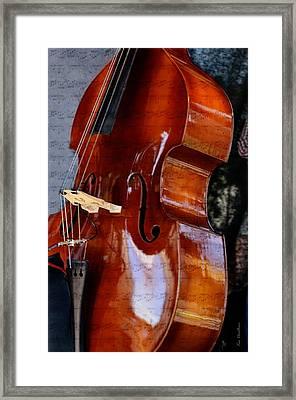 The Bass Of Music Framed Print by Kae Cheatham