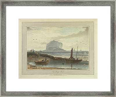 The Bass Rock Framed Print by British Library
