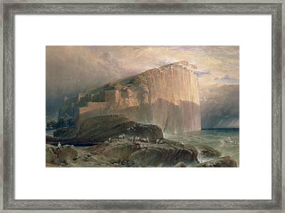 The Bass Rock, East Lothian, 1870 Framed Print