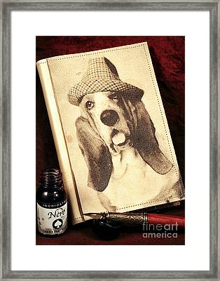 The Basset Diaries Framed Print