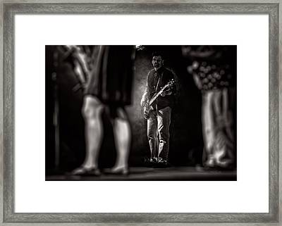 The Bassist Framed Print by Bob Orsillo