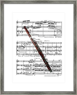 The Bassoon Framed Print by Ron Davidson