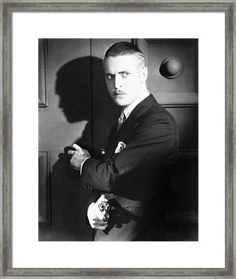 The Bat Whispers, Chester Morris, 1930 Framed Print