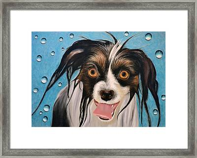The Bath - Pastel Framed Print by Ben Kotyuk