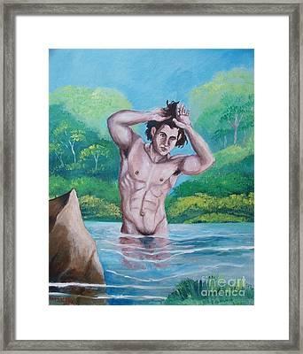 The Bather Framed Print