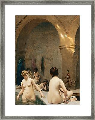 The Bathers Framed Print by Jean Leon Gerome