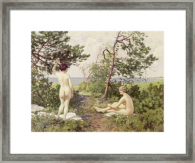 The Bathers Framed Print by Paul Fischer