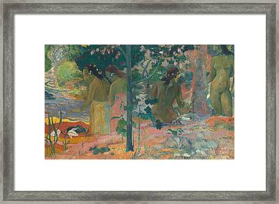 The Bathers Framed Print by Paul Gaugin
