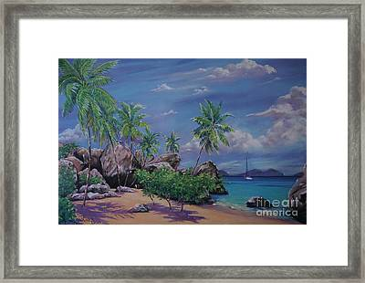 The Baths At Virgin Gorda   15x23 Framed Print