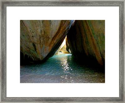 The Baths At Virgin Gorda Framed Print