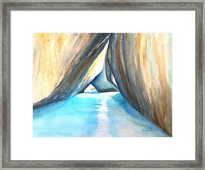 The Baths Azul Framed Print